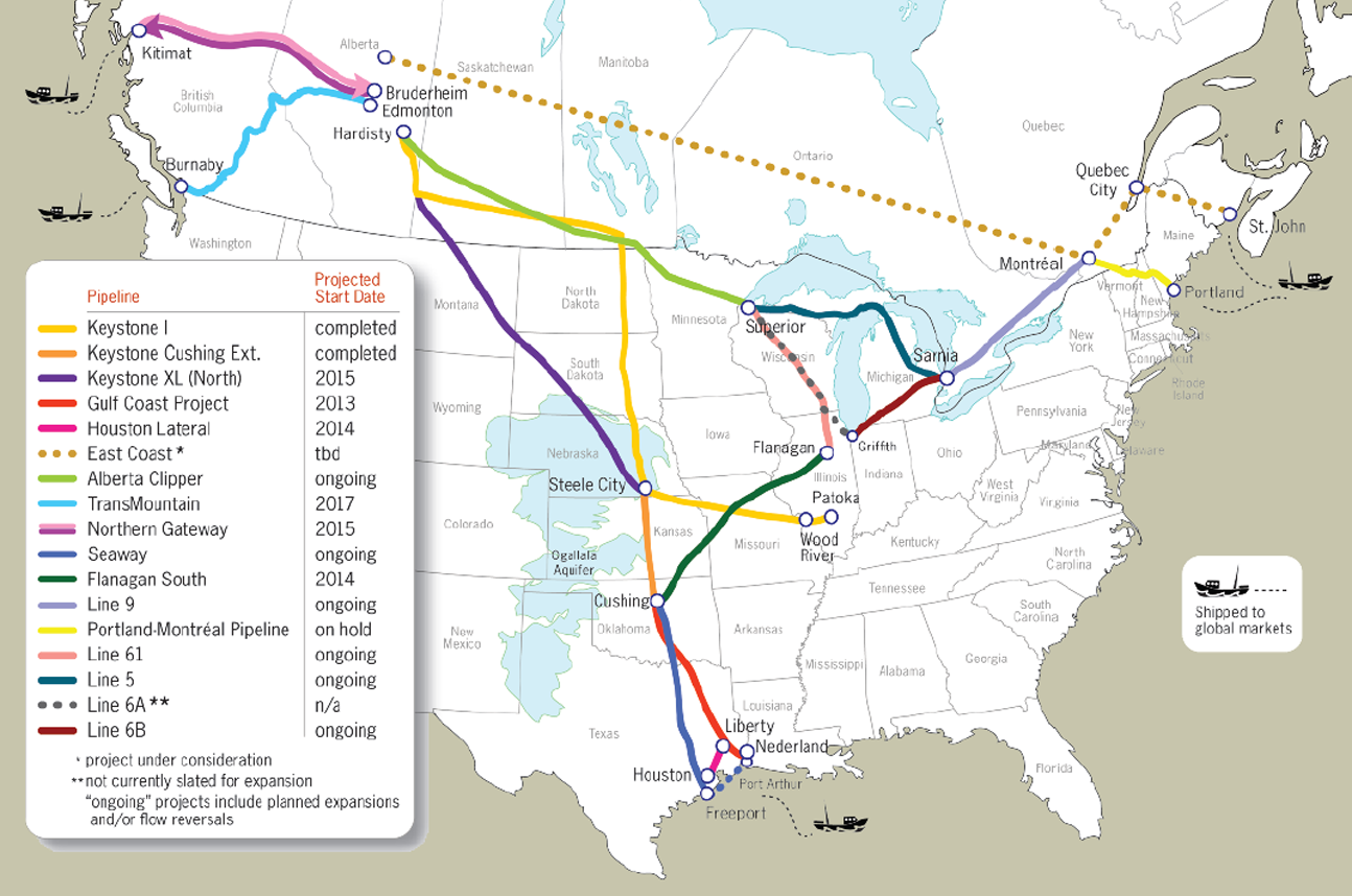 Midwest Oil Pipeline Map Environmental Death Pinterest Oil - Map of us oil pipelines