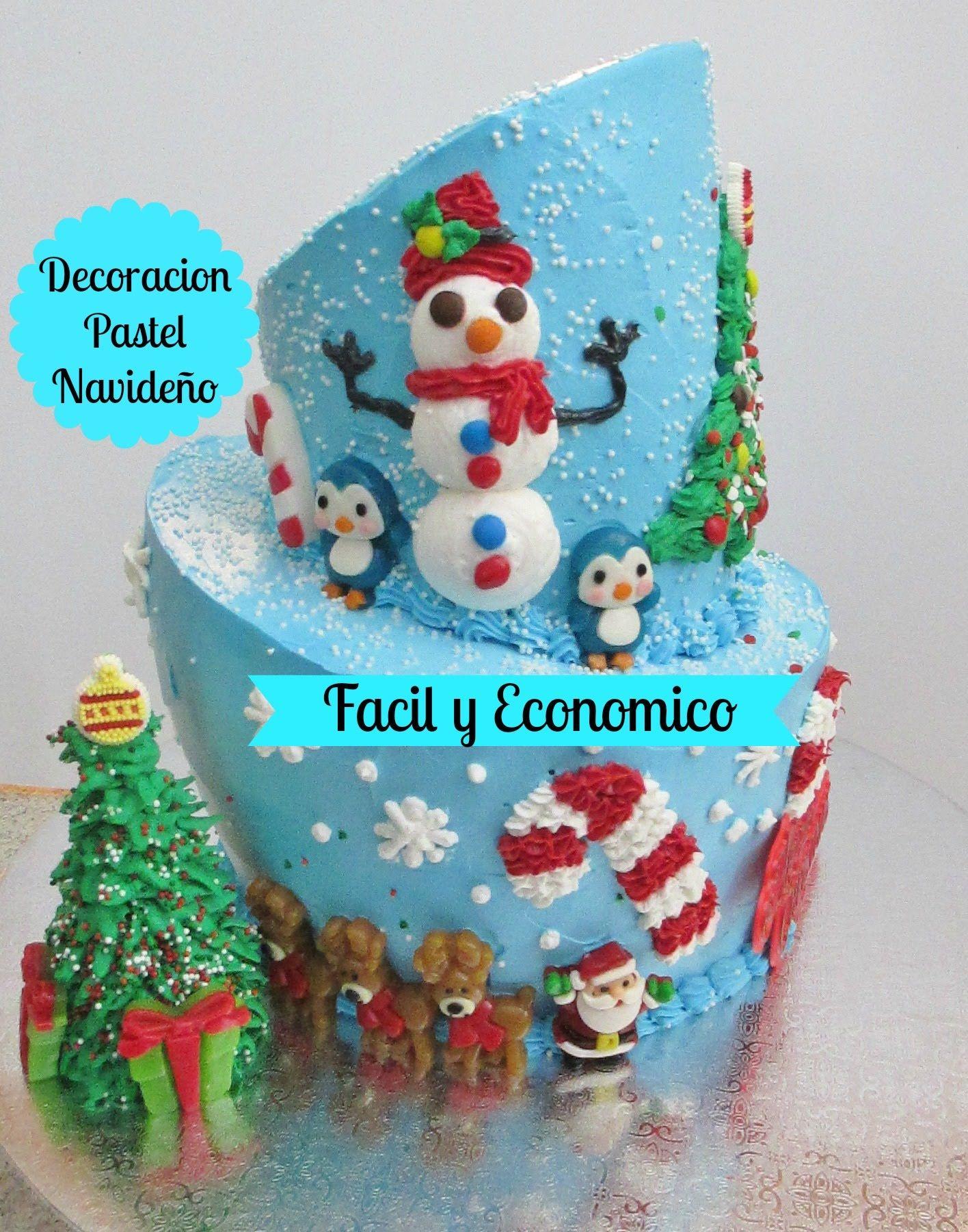 Pastel navide o f cil de decorar y econ mico madelin 39 s for Menu navideno facil de hacer