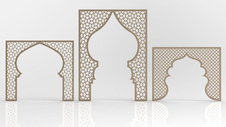 20 Arabic Pattern 3d Models And Vector Files Cnc File Etsy Wall Paint Patterns Arabian Decor Arabic Pattern