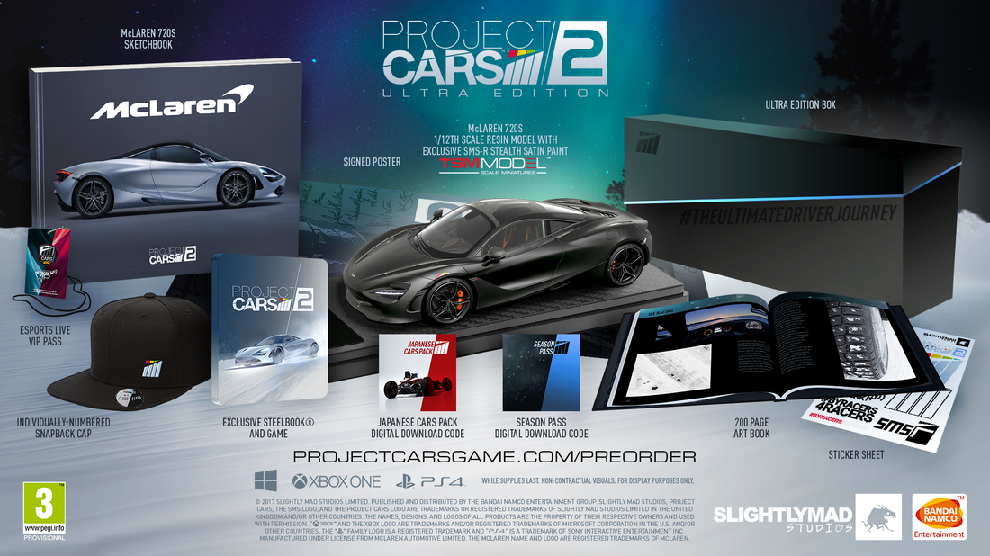 Project CARS 2 Limited, Collector's and Ultra Editions Revealed »