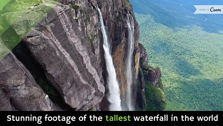 Stunning Footage Of The Tallest Waterfall In The World Video Waterfall World Stunning