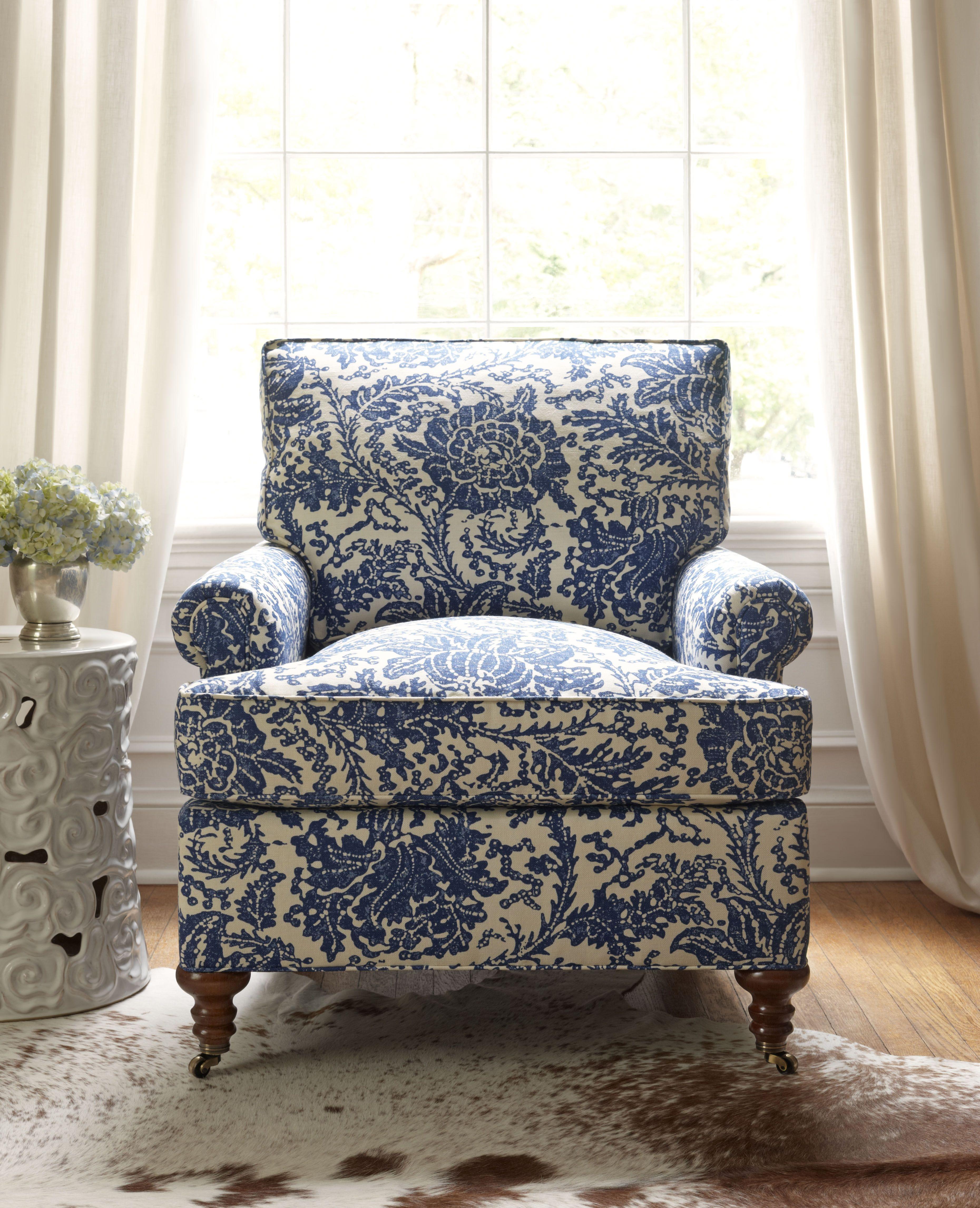 Hamilton Chair Classic in Mizoram Blue in #Thibaut  Thibaut Fine Furniture ...