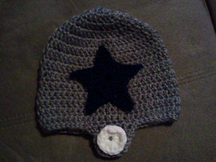 Crochet Dallas Cowboys Baby Beanie- I found both patterns ...