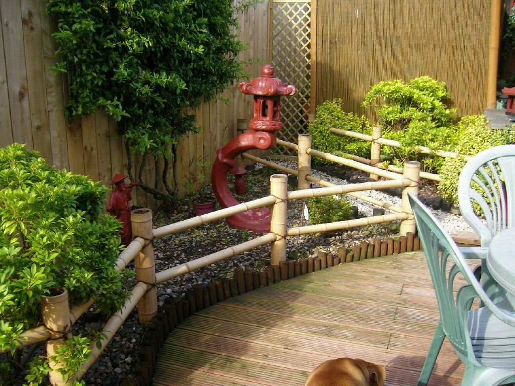 Japanese Garden Design Using Bamboo