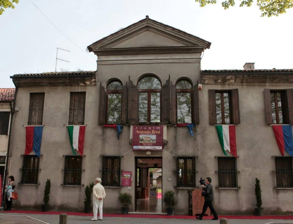 Opening the exhibition, Villa Orsini, Scorzè, Venice