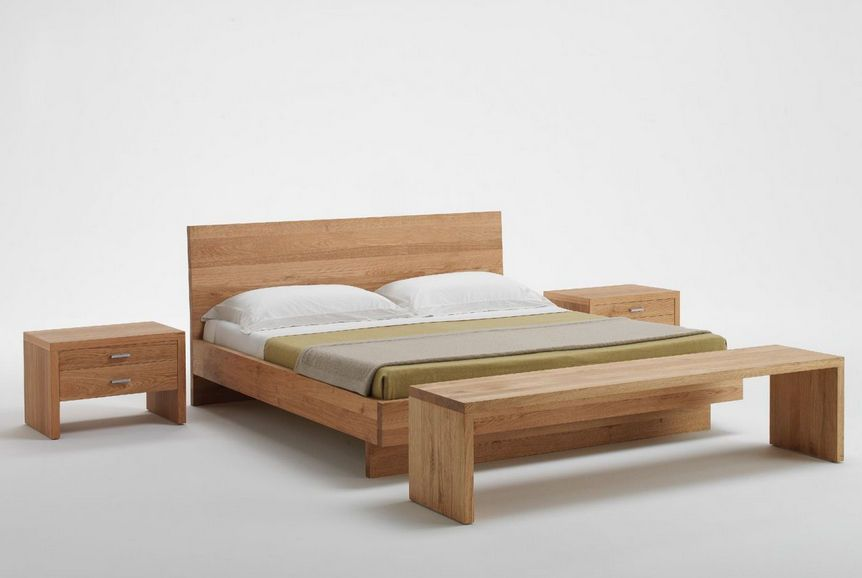 Excellent Solid Wood Bed for Both Modern and Classic Bedrooms: Contemporary Solid Wood Bed Simple Design Oak Material Design ~ sourcemall.net Bedroom ... : bed-simple-design - designwebi.com