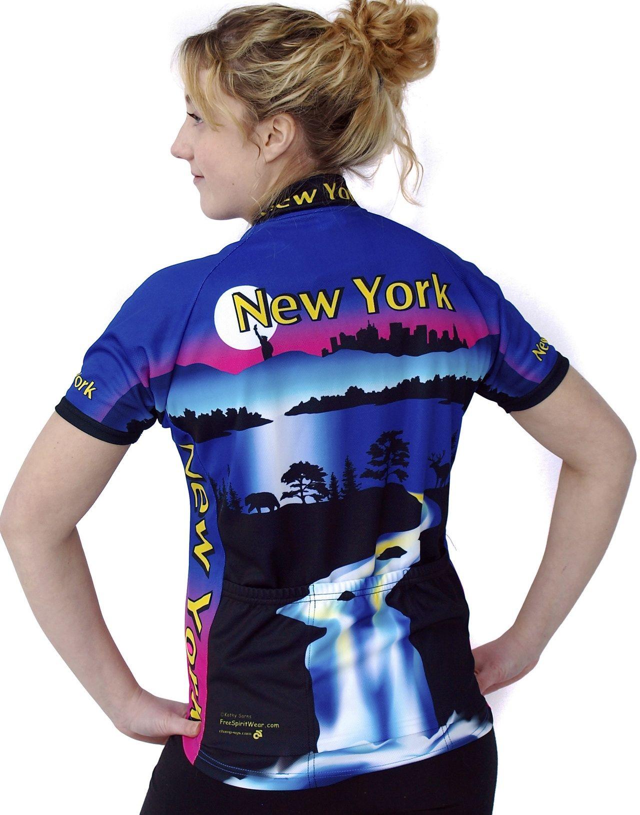 New York Women's Bike Jersey Bike jersey women, Women's