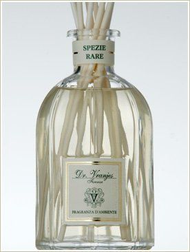 """Dr. Vranjes SPEZIE RARE ~ Rare Spices Diffuser 100ml by Dr. Vranjes. $40.00. Dr. Vranjes ~ SPEZIE RARE """"Rare Spices"""" Diffuser"""" ~ Essences of the world's most aromatic spices; cloves, star anise, sandalwood balanced with herbal tones. Fragrance Notes: Vetiver, Cloves, Sandalwood, Macis, Minth & Star Anise(Spices & Wood)"""