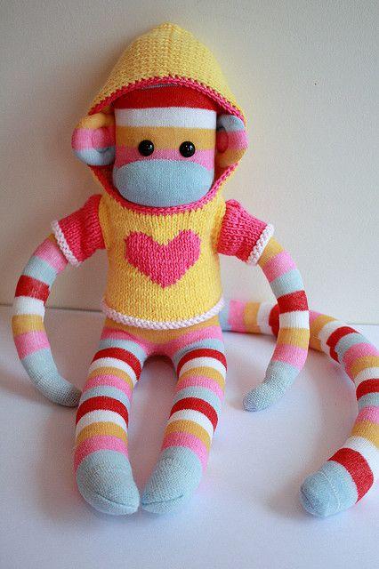 Samantha Mars Sock Monkey   Dolls and softies   Pinterest   Socken ...