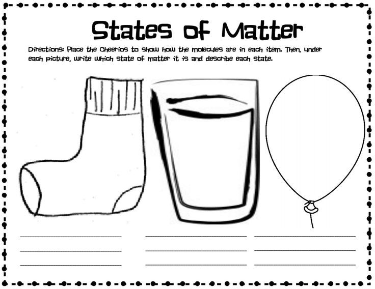 States Of Matter And Cheerios Worksheet State Of Matter Cheerios