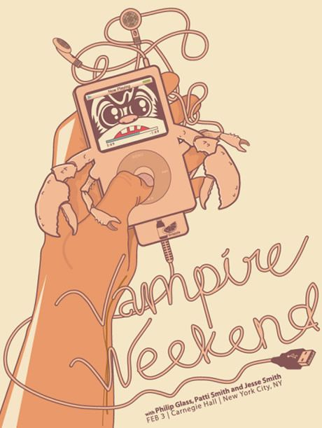 Vampire Weekend ( Concert Poster - ipod theme / band gig poster / illustration / graphic design / art ) #WOWmusic