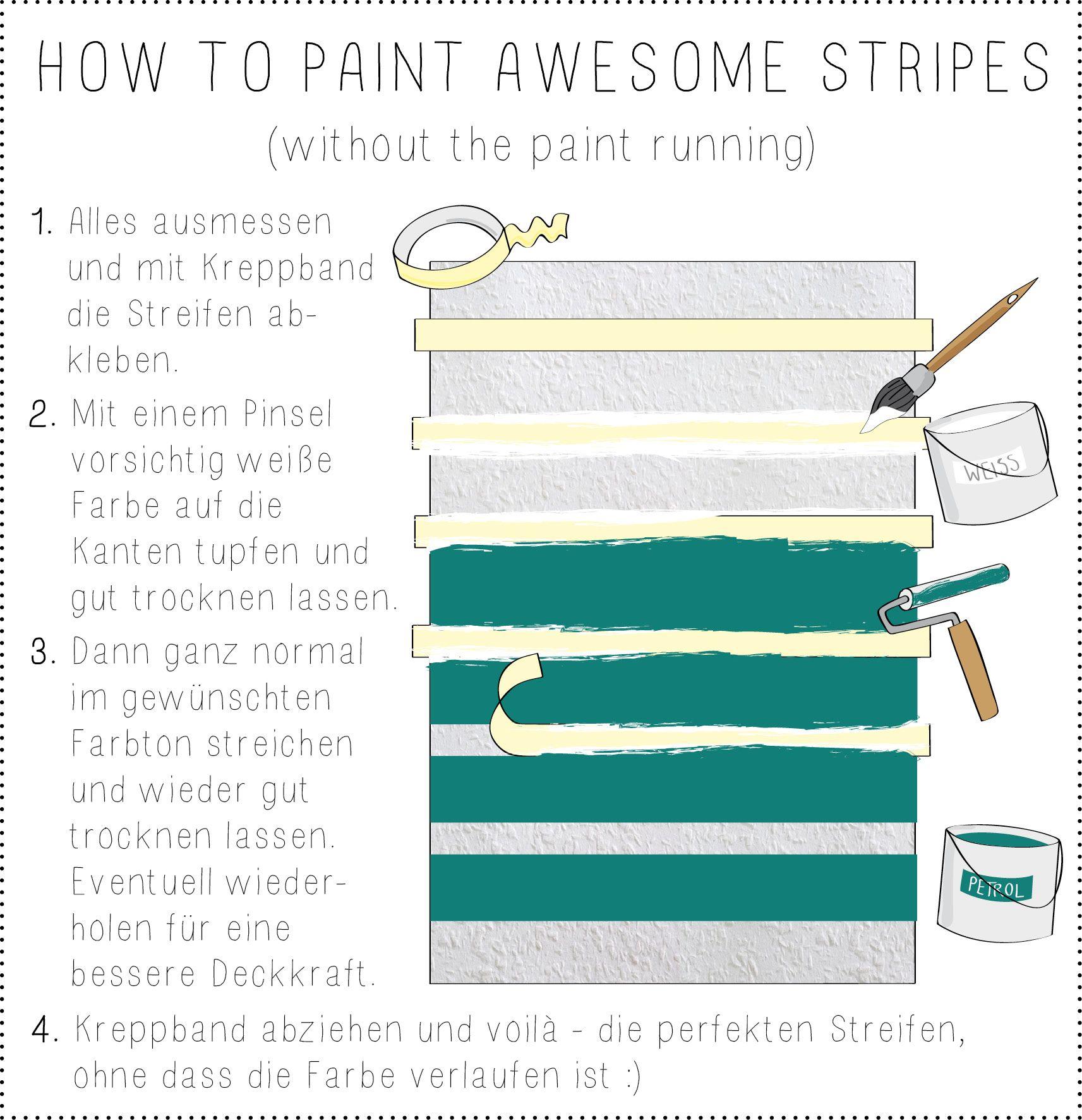Wandmuster Streifen Ideen | wand | Room, Wands und Color