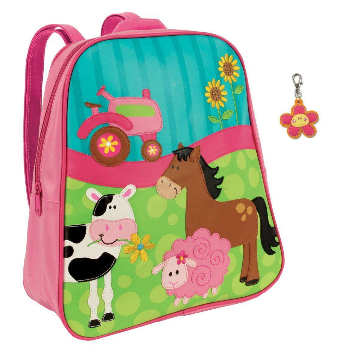 Stephen Joseph Girl Farm Backpack with Flower