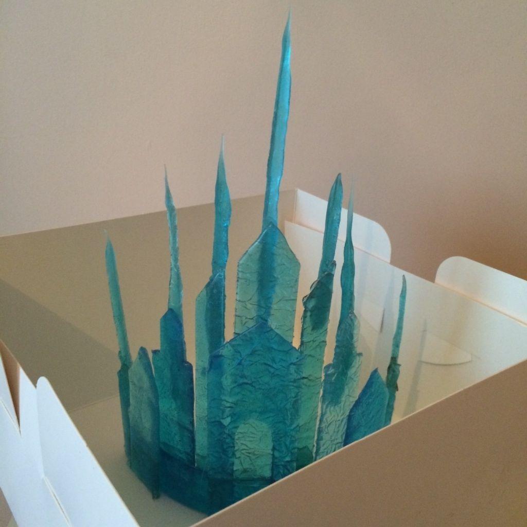 Stunning Disney Frozen edible sugar handmade ice castle birthday