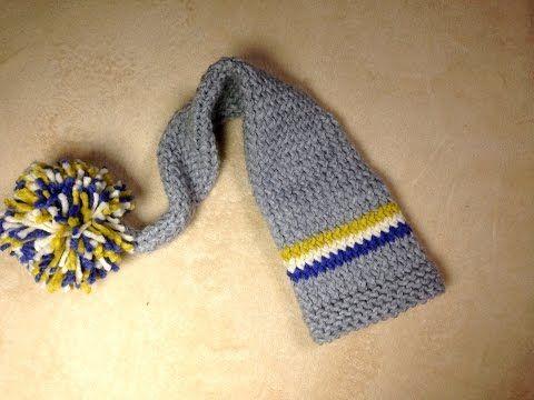 Tutorial DIY: Cómo tejer gorro de gnomo para bebé con telar ...