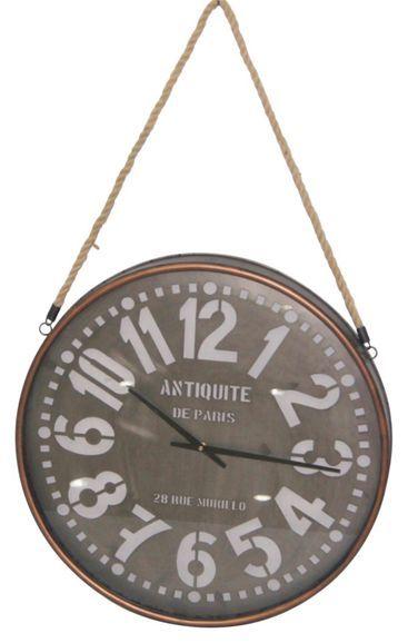 Uhr in Braun - eine Brise Frankreich Farmhouse Decor Pinterest - wanduhr für küche