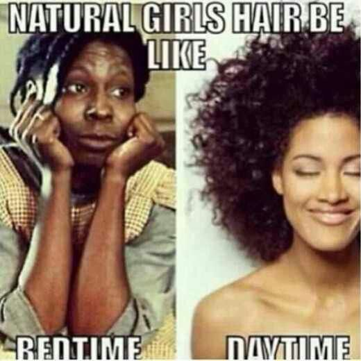 Natural Hair Definitely my most popular pin! My hair is literally like the pic on the left right now as I pin this!!! SO funny!!!