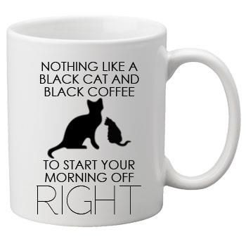 I'll Take a Black Cat Anytime...However, it's Extra Cream & Extra Sugar in that Cup of Jo ☺ My coffee would be with milk in it. Enjoy yours today. Incensewoman