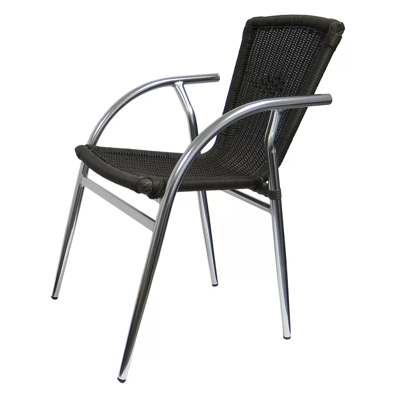 Terrific Aluminum Stacking Patio Dining Chair Outdoor Dining Home Interior And Landscaping Eliaenasavecom