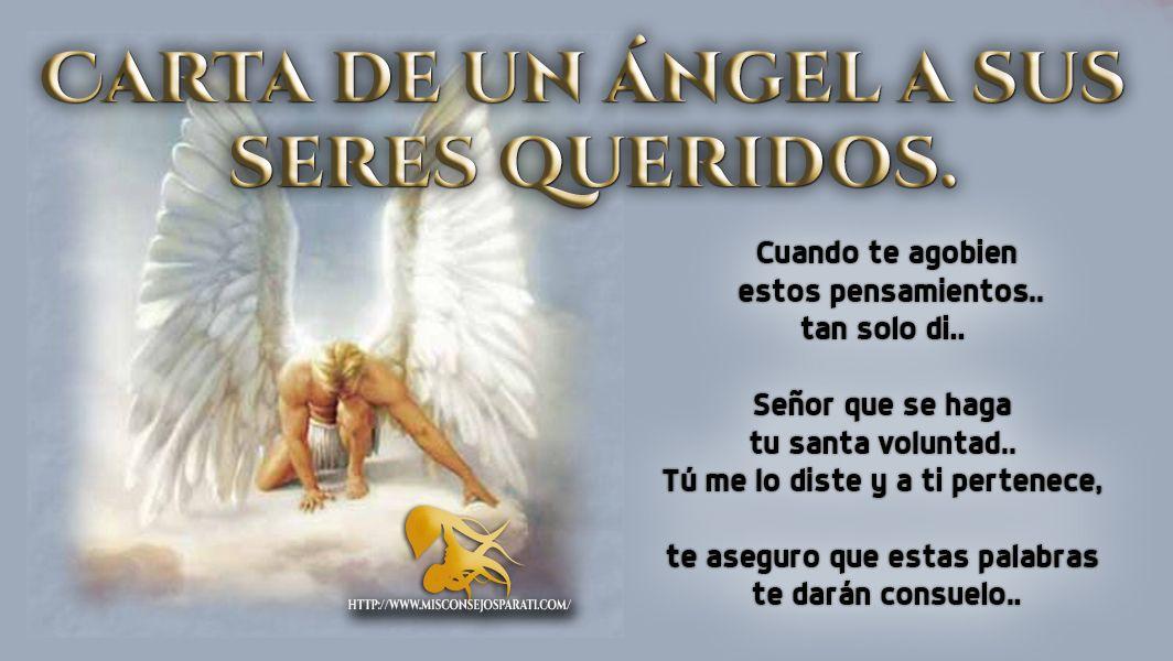 Hermosa Carta De Un Angel Sus Seres Queridos Cartas Frases De