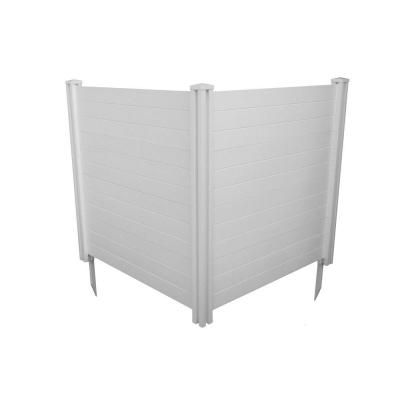 Zippity Outdoor Products 4 Ft H X 3 Ft W White Vinyl Privacy Screen 2 Pack Zp19008 The Home Depot In 2020 Vinyl Privacy Fence Privacy Fence Panels Privacy Screen