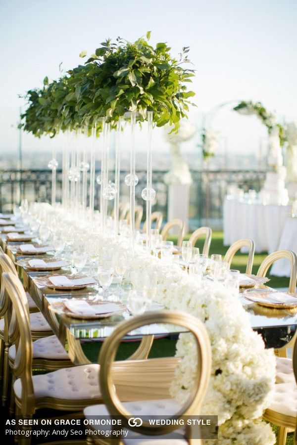 The London West Hollywood Wedding Classic All White Contemporary
