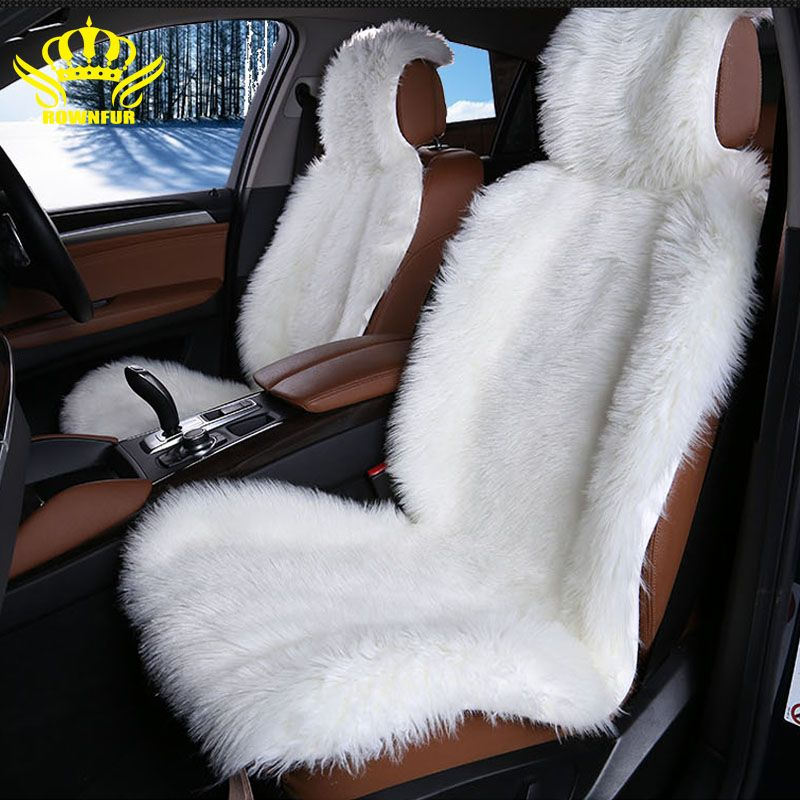 High Quality Faux Fur Front Car Seat Covers For Seats Auto Universal Fit Most