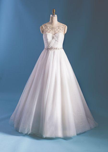 cinderella inspired wedding dress from 2015 disneys fairy tale weddings by alfred angelo