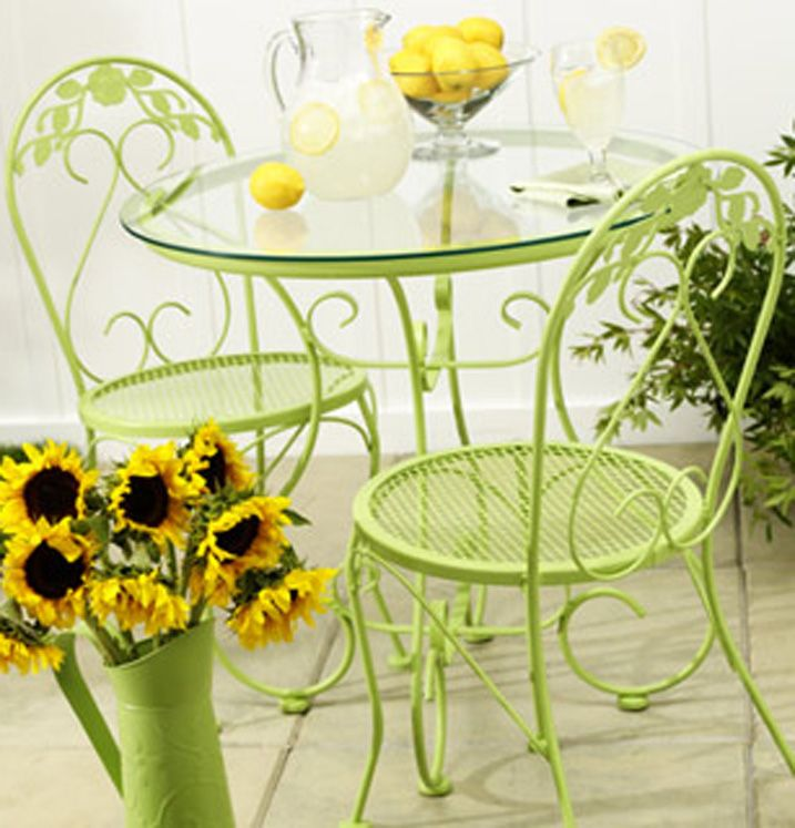 Painted Wrought Iron Patio Furniture Ideas