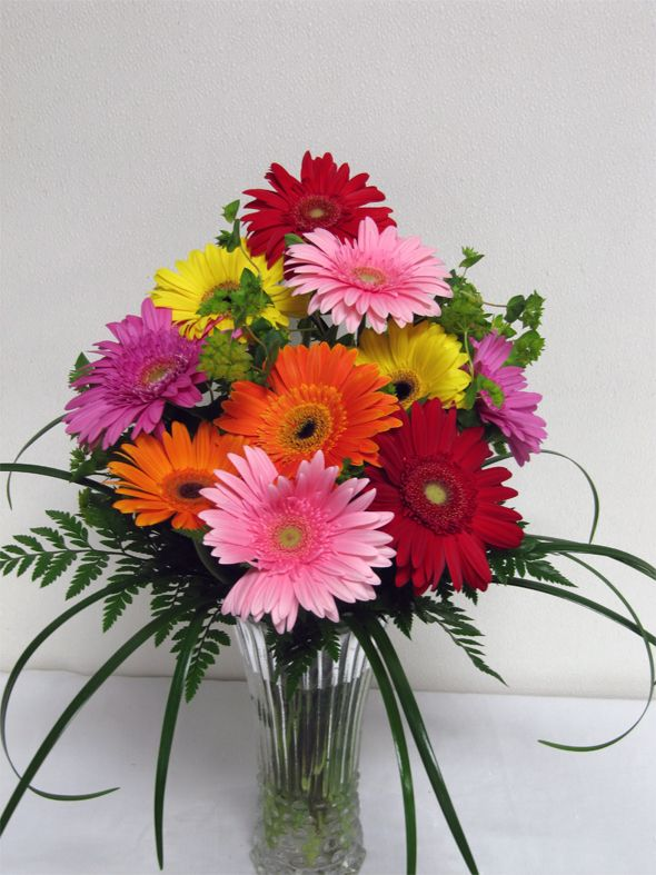 Grand Gerbera Arrangement Gerbera Daisy Flower Arrangements