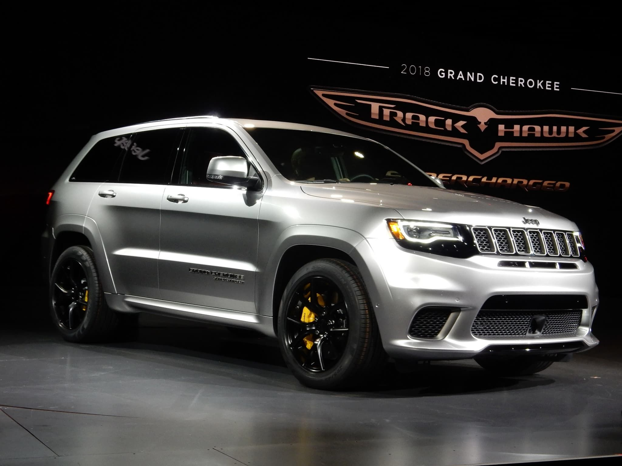 2018 Grey Jeep Grand Cherokee Trackhawk Jeep Grand Jeep Grand Cherokee Jeep