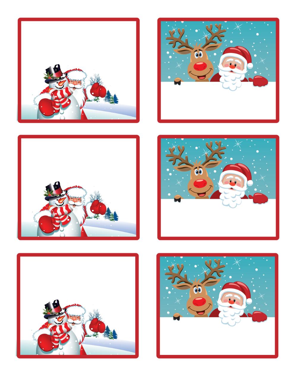 30+ Editable christmas gift tags ideas