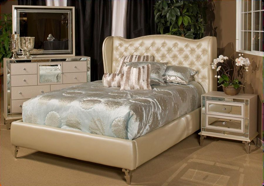 Hollywood Loft 4-pc Frost Bedroom Set - Eastern King Size Bedroom ...