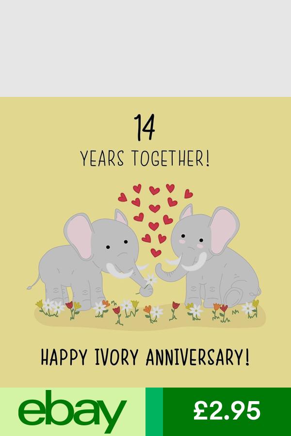 14th Wedding Anniversary Card Ivory Anniversary Iconic Collection 14th Wedding Anniversary 14th Anniversary Gifts Wedding Anniversary Cards