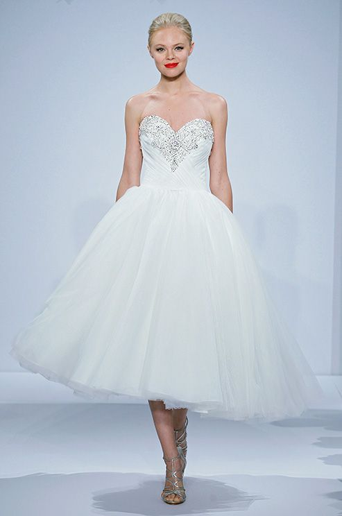 Tulle sweetheart ballerina length ball gown by Dennis Basso, Spring ...