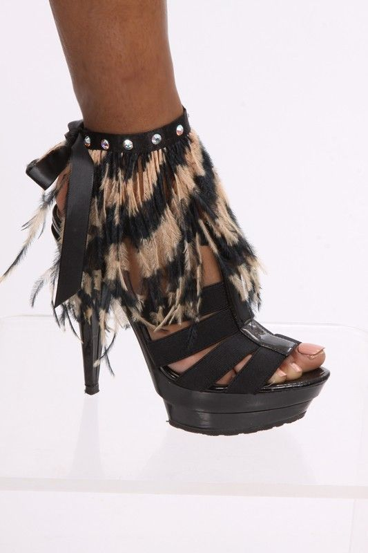 Ostrich Feather Ankle Wrap