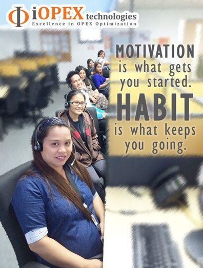 Motivation is what gets you started.Habit is what keeps you going. :)