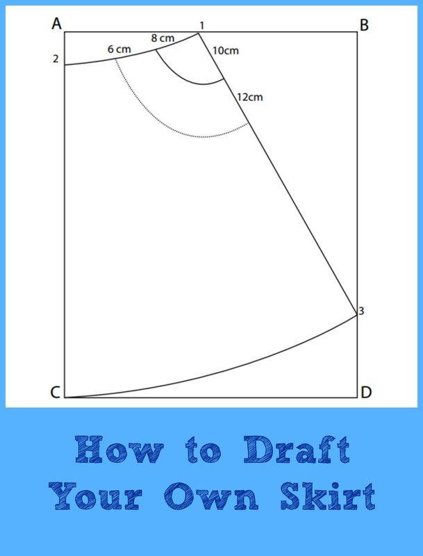 Drafting Tutorial: A-line Skirt - On the Cutting Floor: Printable ...
