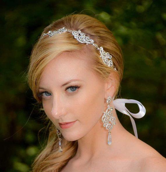 Bridal Hair Accessories Bridal Headband Silver Crystal