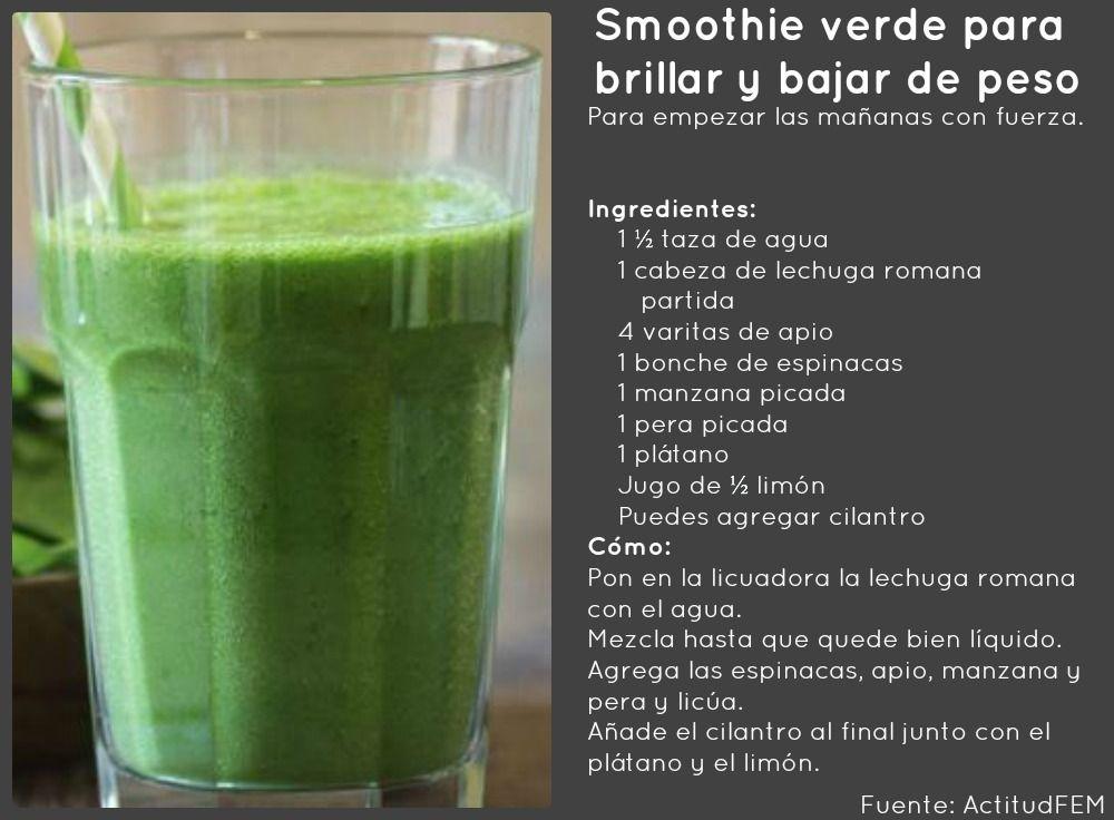 smoothies verdes para perder peso