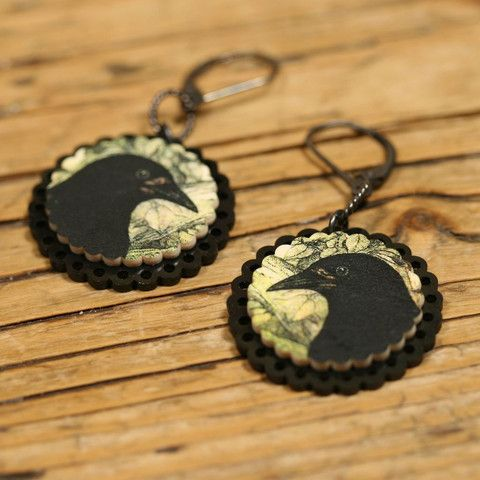 Mama's Little Babies, Raven Earrings $28