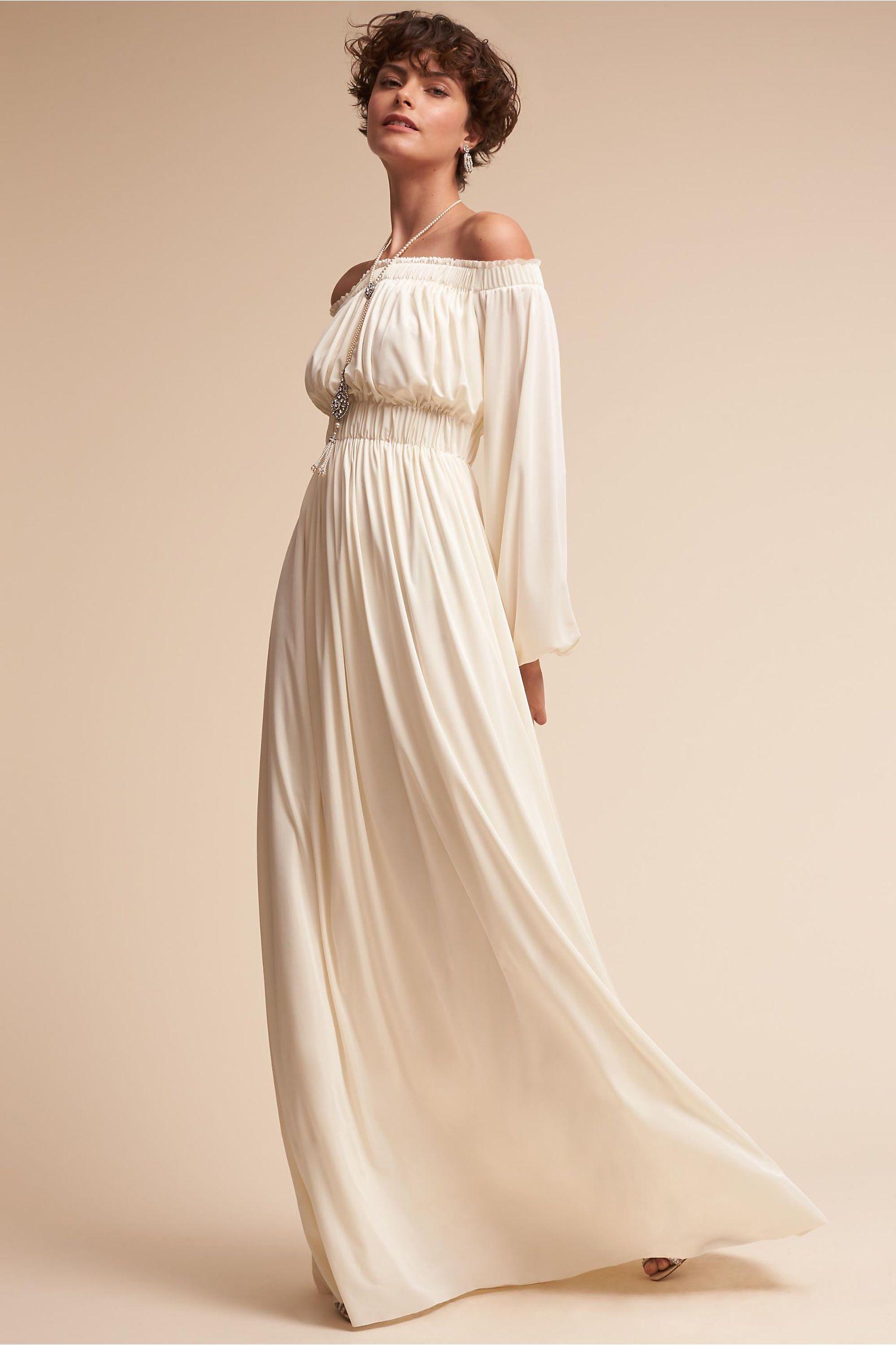 BHLDN\'s Catherine Deane Miranda Gown in Cream | Beach Wedding ...