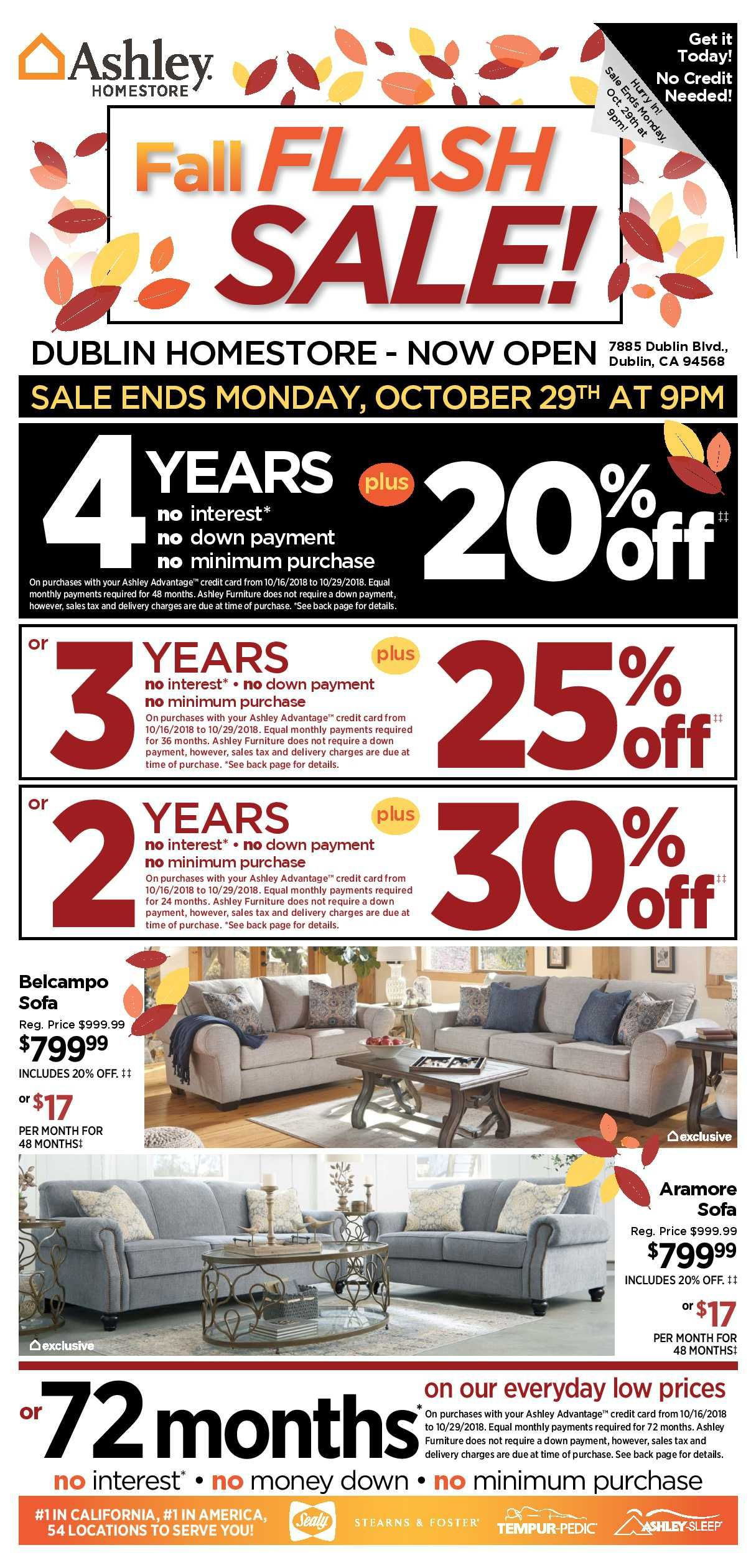 Ashley Furniture Weekly Deals Flyer January 15 21 2019 At