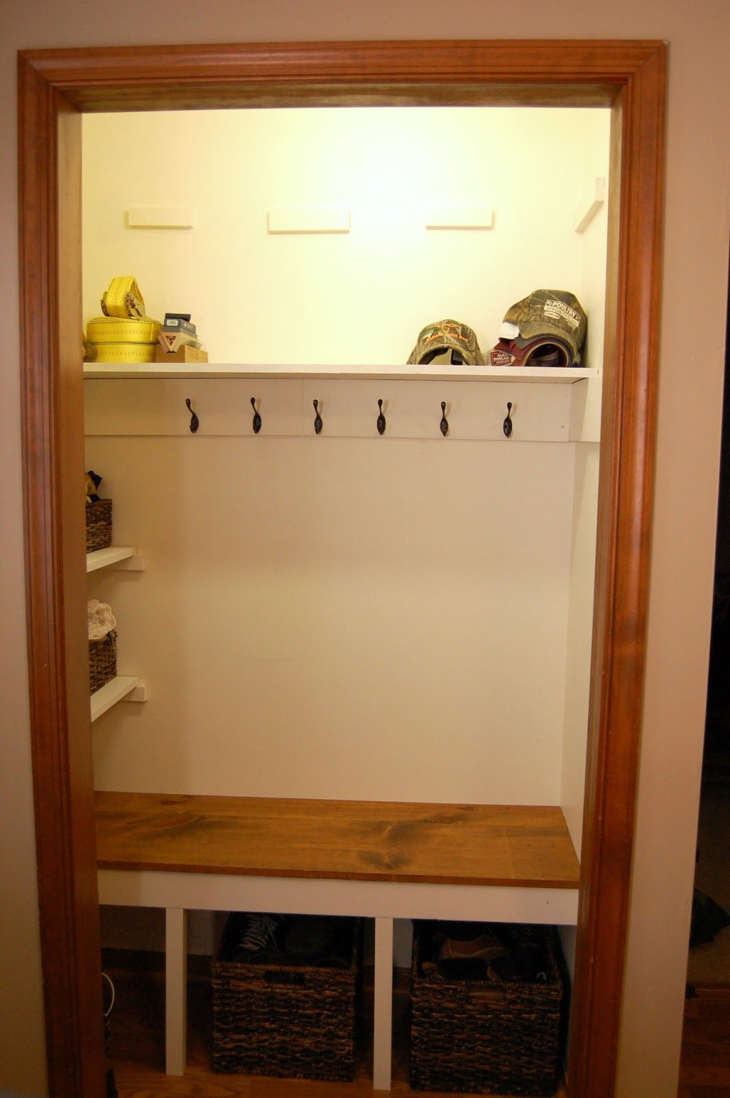 Foyer Closet Storage Ideas : High resolution image closet design mudroom bench