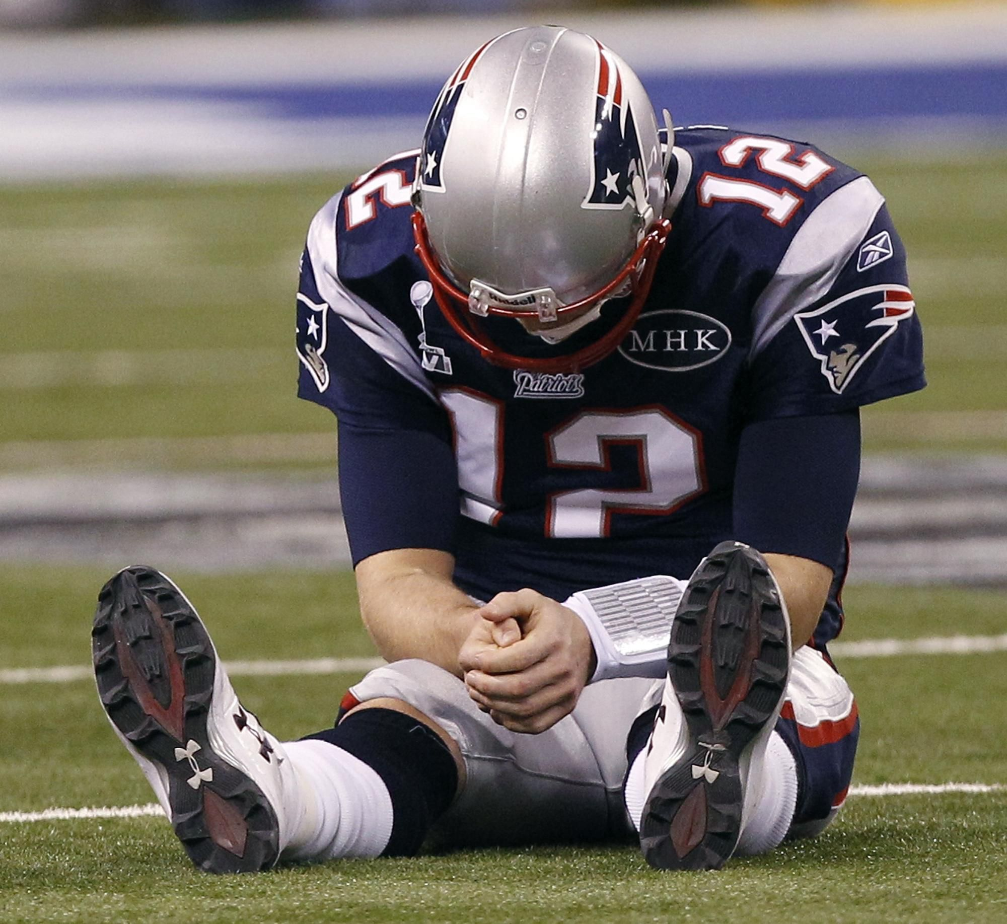 i laughed so hard when i saw him doing this... wittle bwady sad cause he got intercepted.. lol