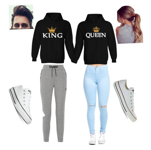 U0026quot;Couple Outfit Goalsu0026quot; by asosa20 on Polyvore featuring NIKE and Converse   Style   Pinterest ...