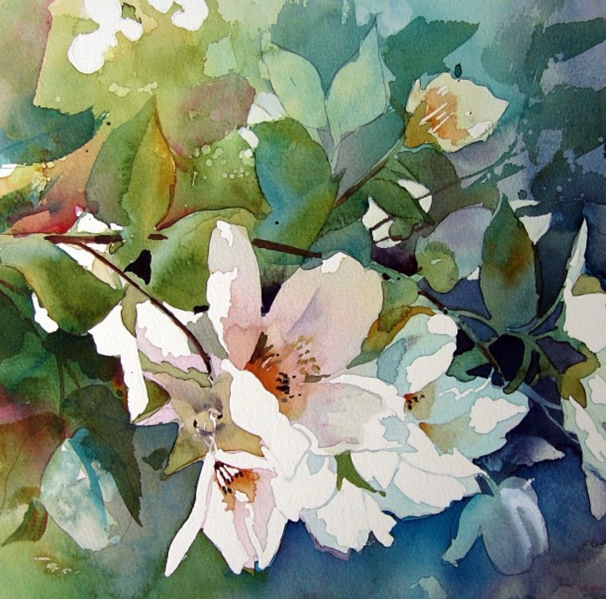 Watercolor Painting By Aud Rye Floral Watercolor Watercolor