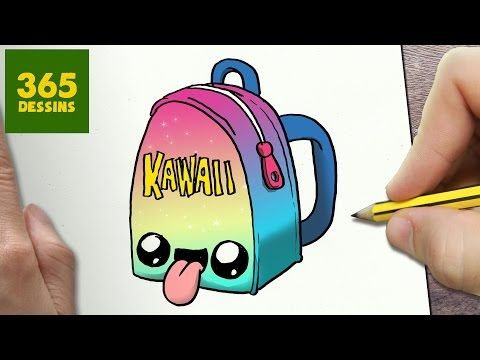 COMMENT DESSINER UNE TROUSSE KAWAII ÉTAPE PAR ÉTAPE \u2013 Dessins kawaii facile  , YouTube