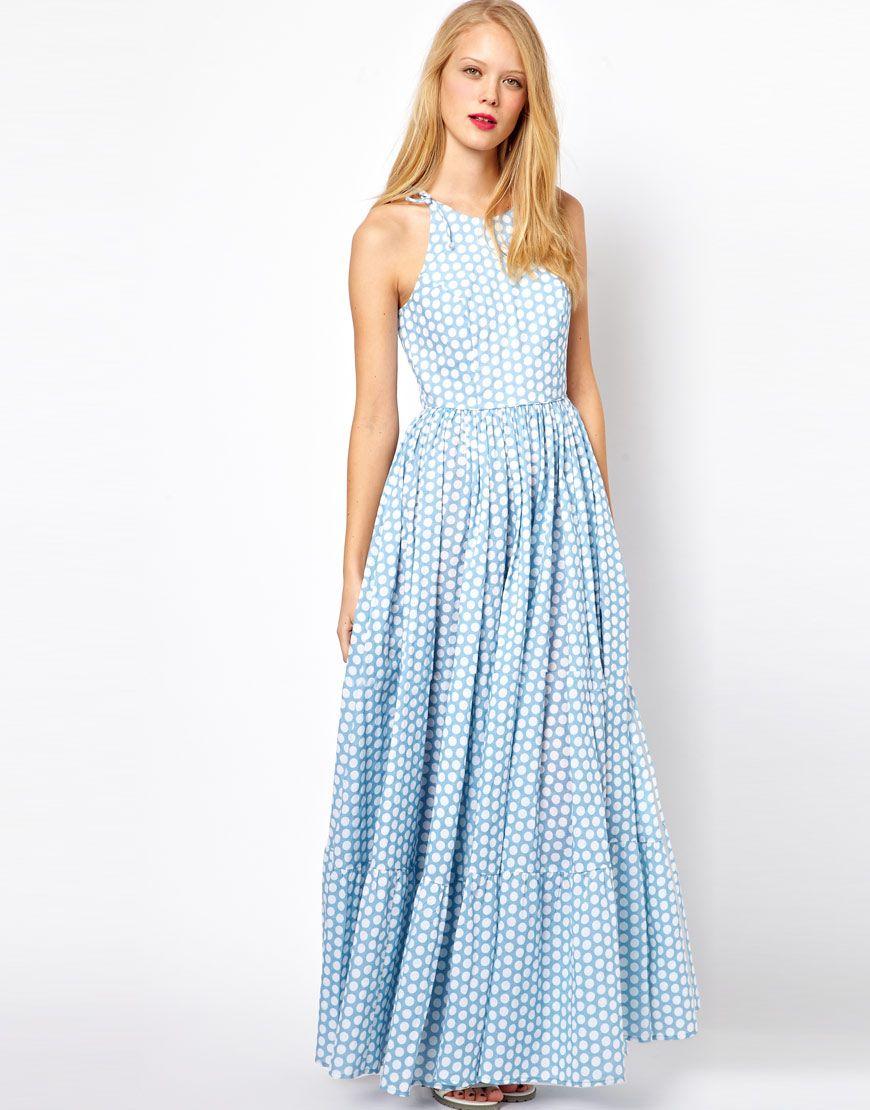 Blue maxi dress asos | Color dress | Pinterest | 500 days of ...