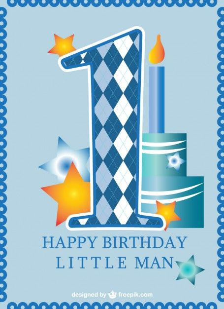 Download First Birthday Card Baby Boy For Free 1st Birthday